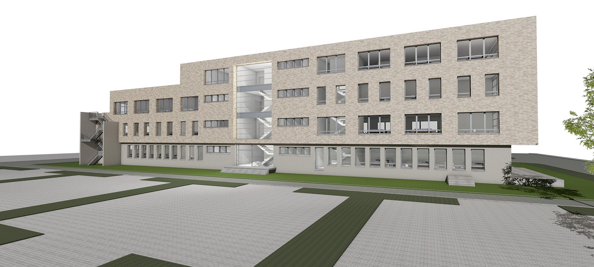Rendering Außenansicht Green Office Building Osnabrück